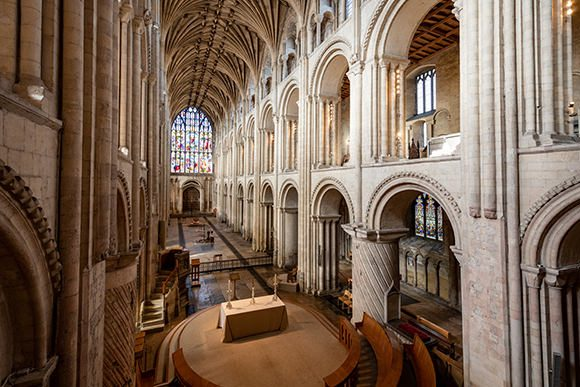 The Nave at Norwich Cathedral c Bill Smith Norwich Cathedral