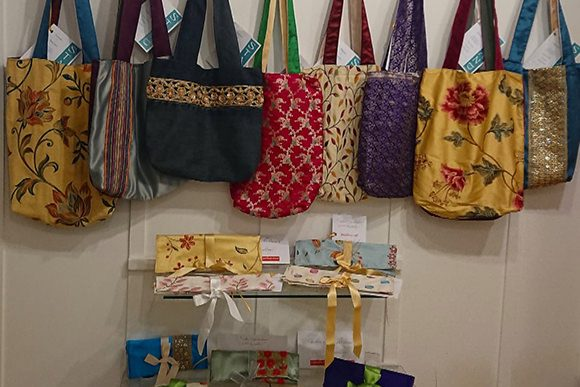 stand upcycled bags and purses